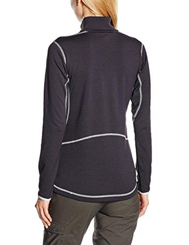 Millet LD Tech S Top - Polo térmico para mujer (con cuello alto y cremallera) negro