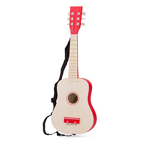 - New Classic Toys - 10300 - Musical Toy Instruments - Luxury Toy Guitar for Children's - Red