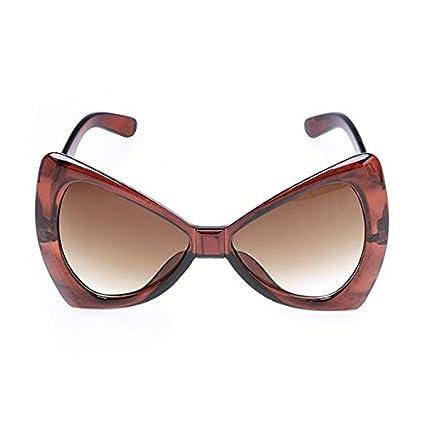 a006774aa6 Amazon.com  SODIAL(R) Fashion Women s European Style Sunglasses Bowknot  Frame Big Lens Eyewear Shades Glasses£¨Brown£  Sports   Outdoors
