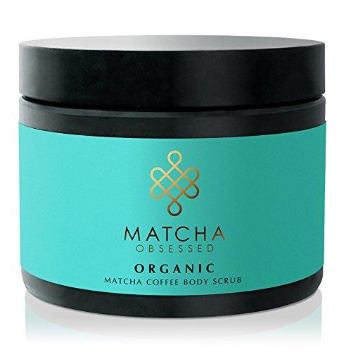 Organic Matcha Coffee Sugar Body Scrub with Exfoliating Sea