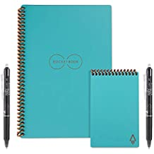 Rocketbook Everlast Executive and Mini Wirebound Notebook with 2 Pilot FriXion pens and 2 microfiber cloths, Neptune Teal (EVR EM K CCE)