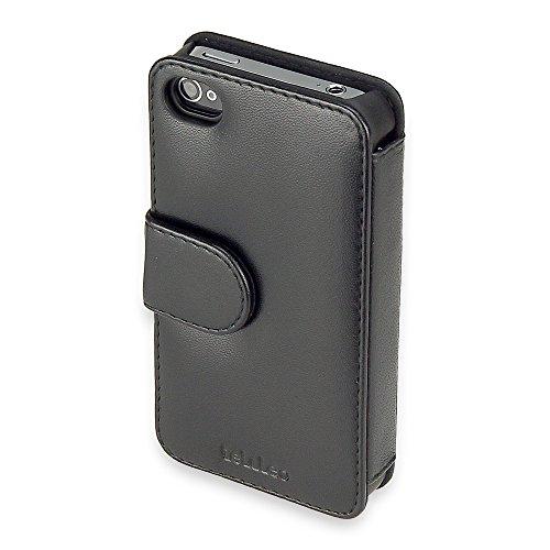 telileo 0373Nappa Touch Case pour Apple iPhone 4Noir