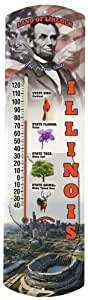 Heritage America by MORCO 375IL Illinois Outdoor or Indoor Thermometer, 20-Inch