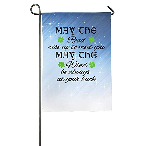CUTEDAY Flag Banners,Outdoor Lawn Decorations, May The Road Rise to Meet You Home Garden Flag Game Flag 12
