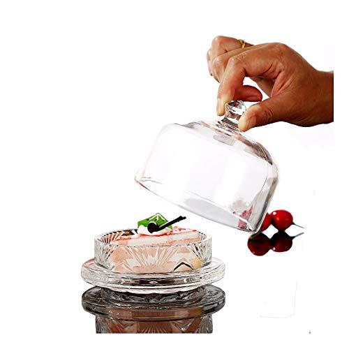 Butter Crock Cookie Jars Glass Dish Gifts for Wedding Honey Jams Salt Pepper Urchart (Clear White)