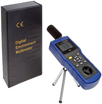 """Supco EM5 Environmental Meter, 3.5"""" Length x 2"""" Width x 11"""" Height, 14 to 140 degree F, +/- 2.7 Degree F Accuracy"""