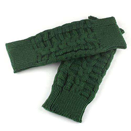 Knitted Fingerless Unisex Soft Warm Mittens Winter Gloves