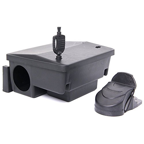 Haierc Snap Trap Protect Cover, Rodent Bait Station,Rodenticide Plastic Box, Eliminates Rats and Mice Fast, Locking Bait Station Keeps Children and Pets Safe (Cover Trap Plastic)
