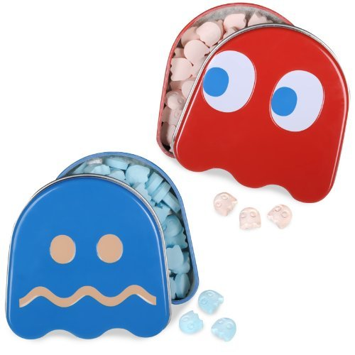- Pac-Man Candy Turned Ghost Sour Tin (Colors may vary) by Boston America