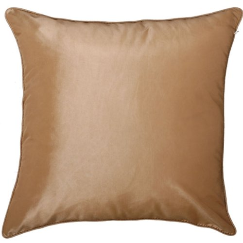 EXP Handmade Silky Light Brown and Taupe Cushion Cover/Pillow Sham,Sunflower and Ribbon Design