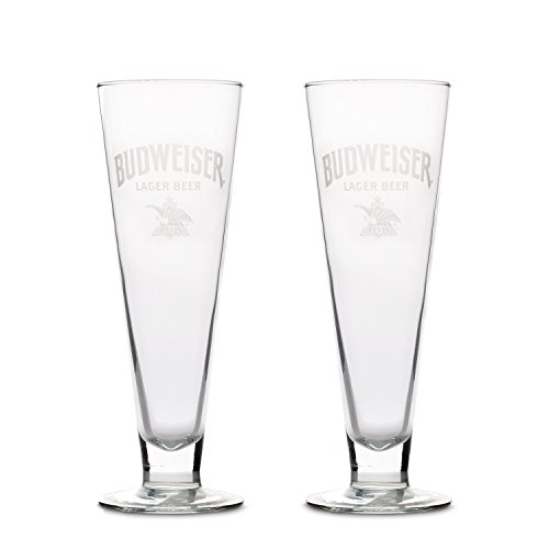 - Budweiser 2-Pack Retro Pilsner Glass, 15oz