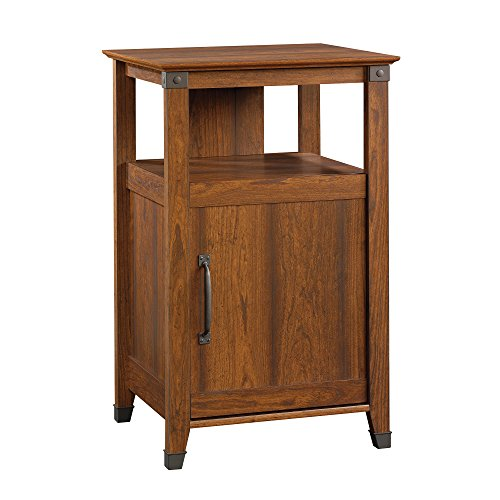 Sauder Carson Forge Technology Pier Free Standing Cabinet, Washington Cherry Finish