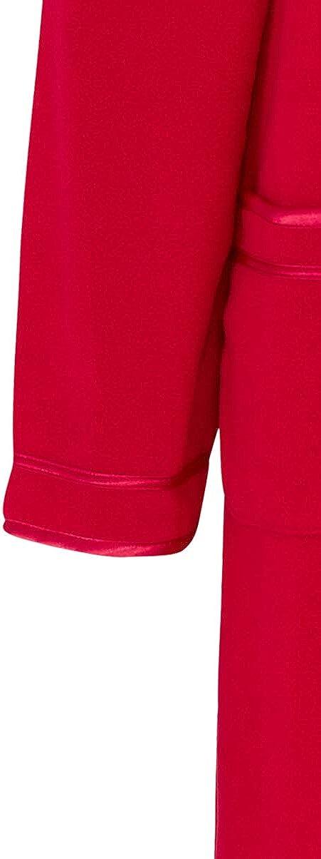 Slenderella Dames 45// 114cm De Polaire Doux Collared Boutons Robe De Toilette Manteau avec Classique Garniture en Satin Tailles Petite Moyenne Grande XL XXL XXXL