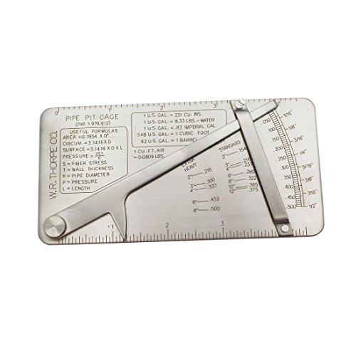 Raogoodcx Stainless Steel Pipe Pit Gage Welding Gauge 0 to 1/2