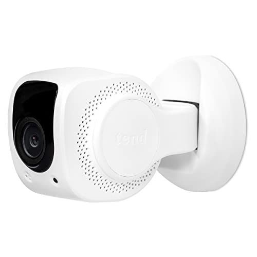 Tend Insights Lynx Indoor 1080P Wifi Home Security Camera with Night Vision and Facial Recognition White