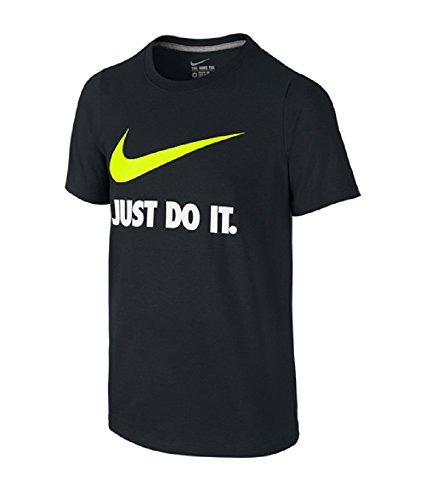 Nike Youth JDI Just Do It Swoosh Tee Black/Volt XL