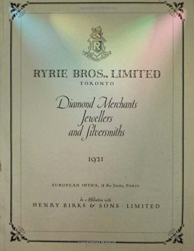 Catalog   The Ryrie Year Book   1921  Gold Diamonds Jewelry By Ryrie Bros Henry Birks And Sons  2016 01 12