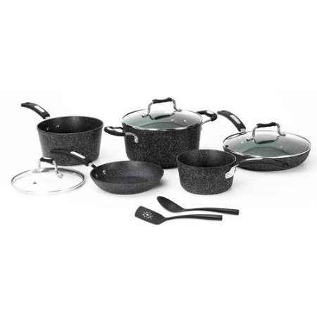 THE ROCK by Starfrit 10-Piece Cookware Set, Grey,