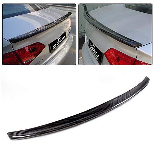 JC SPORTLINE A4 B8 Trunk Spoiler, fits Audi A4 B8 Sline S4 Sedan 2009-2016 Carbon Fiber Rear Deck Lip CF Spoiler Wing