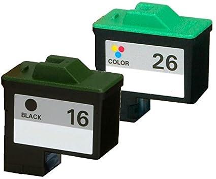 Axiom 2pk Remanufacturado Lexmark 16 26 10 N0016 10 N0026 cartucho ...