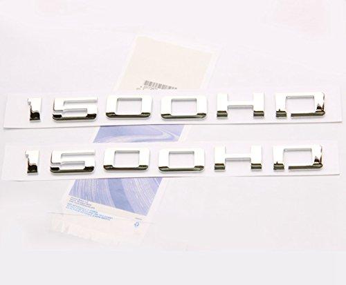 Yoaoo 2x OEM Chrome 1500HD 1500 HD Emblems Badges Nameplate Alloy 3D for Gm Silverado 1500 Sierra