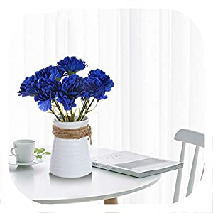 9PCS DIY Fresh Artificial Flower Carnation Silk Flower Fake Plant for Mother's Day Home Party Decoration 15 Colors 54
