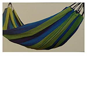 Medium image of cloth hammock great for camping   patio ages 14