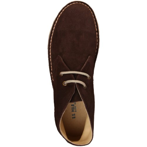 U.S. Polo - Zapatos de cordones de cuero para hombre marrón marrón 40