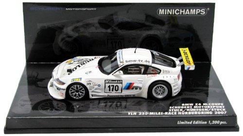 Minichamps – 400072770 – Fahrzeug Miniatur – BMW Z4 M – Behörden geprüft 250-mile Race 2007 – Maßstab 1/43