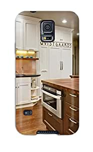 Premium Protection Large Transitional Kitchen With Island And Prep Station Case Cover For Galaxy S5- Retail Packaging