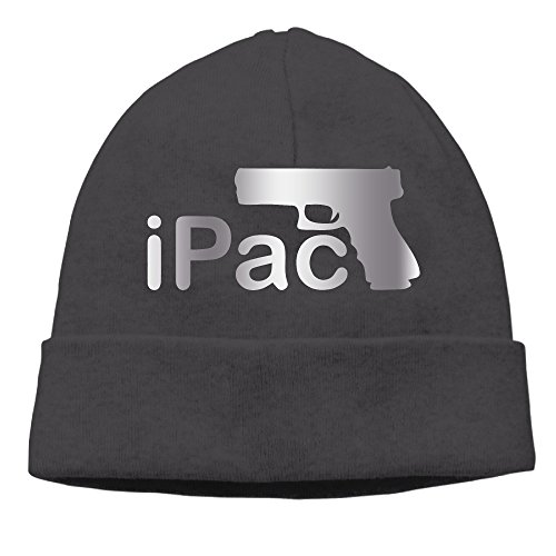 IPac W Pistol Image Platinum Style Beanies Cap