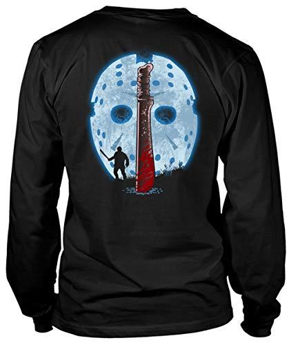 ROEBAGS Jason Voorhees Friday The 13th Halloween T Shirt, Horror Movies Freddy Krueger T Shirt - Long Sleeve Tees (XL, Black)]()