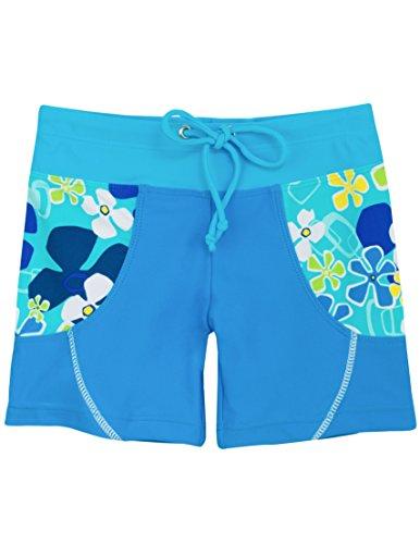 Tuga Girls Swim Short (UPF 50+), Ocean, 11/12 yrs by Tuga Sunwear