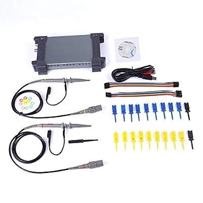 USB Oscilloscope, PC 20MHz Bandwidth 16 Channels Logic Analyzer Digital Oscilloscopes 6022BL