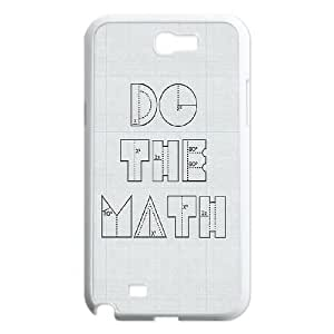 Samsung Galaxy N2 7100 Cell Phone Case White Do The Math LSO7817725