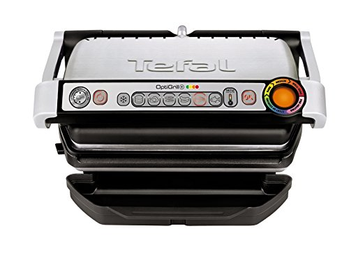 -[ Tefal GC713D40 Optigrill  Grill, 6 Automatic Settings and Cooking Sensor, Stainless Steel  ]-