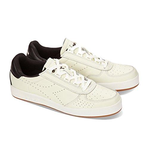 Diadora B.Elite Premium L, Sneaker a Collo Basso Uomo C0013 - Bianco Ottico-nero