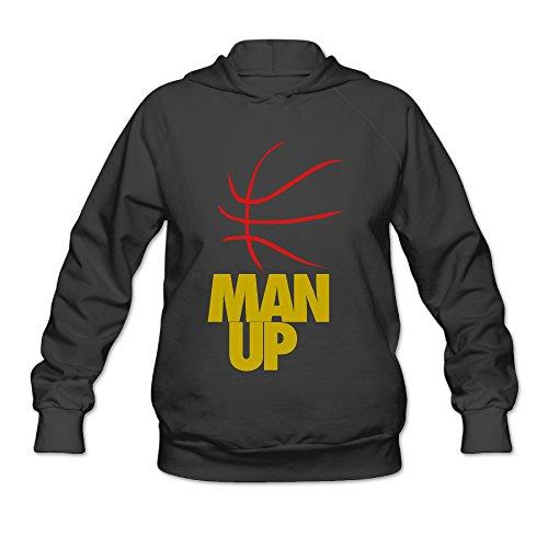 Fun Man Up Women's Hoodied Sweatshirt Tops Cotton