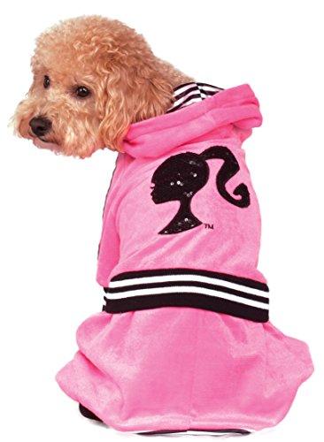 Jumpsuit Ruby (Rubie's Barbie Girl Velour Jumpsuit Pet Costume, Large)