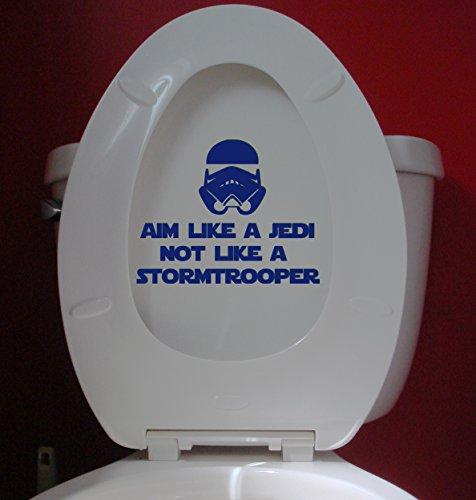 Aim Like a Jedi not a Stormtrooper COBALT BLUE custom vinyl decal sticker 7