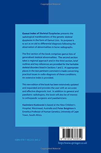 Gamut Index of Skeletal Dysplasias: An Aid to Radiodiagnosis