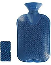 Fashy Warmwaterzak Saphir Dubbel Geribbeld Blauw, 2 L