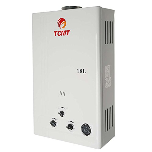 Tengchang 18L/min 4.8 GPM Tankless Hot Water Heater Propane LPG Gas Instant w/Shower