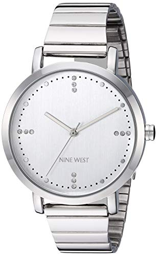 Nine West Women's NW/2279SVSV Crystal Accented Silver-Tone Bracelet ()