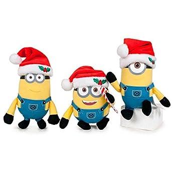 Peluche llavero Minions Christmas soft 10cm surtido: Amazon ...