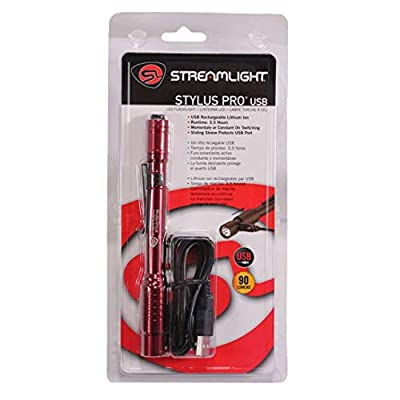 Streamlight 66137 Stylus Pro with USB Cord -, Red