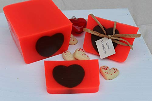 (Saint Valentine - All natural, handmade strawberry shortcake Valentines Day soap)