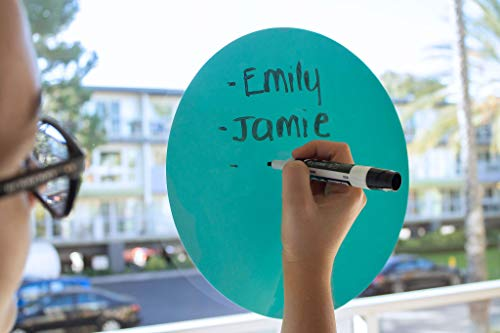 Dry Erase Circles 8 Pieces - White Board Marker Removable Vinyl Dots Sticker Set (11 inch) - Perfect for classrooms, offices, and home - SylkyClover Photo #3