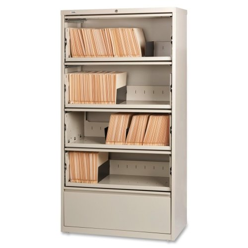 LLR43512 – Lorell Receding Lateral File with Roll Out Shelves