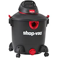 Shop-Vac 5985300 12 gallon 5.0 Peak HP Classic Wet Dry Vacuum, Black/Red